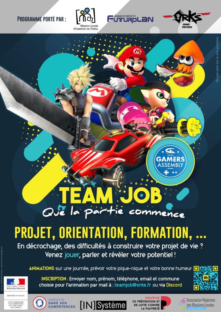 Team Job - Viens révéler ton potentiel au travers du e-sport - Mission Locale d'Insertion du Poitou