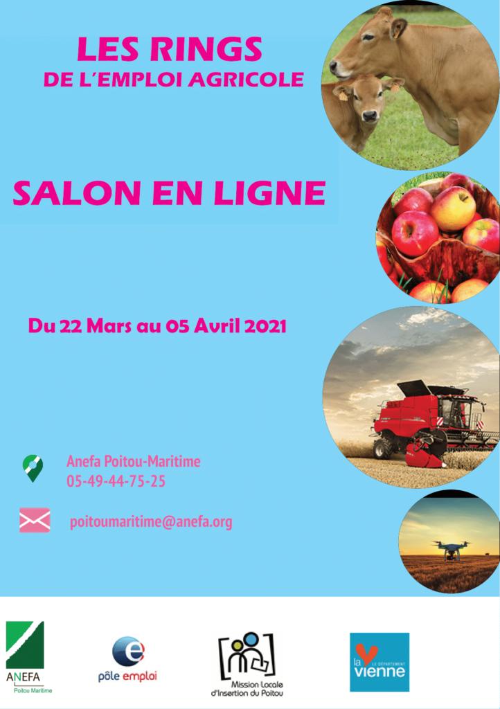 Affiche Les rings de l'emploi agricole_22 mars au 05 avril 2021