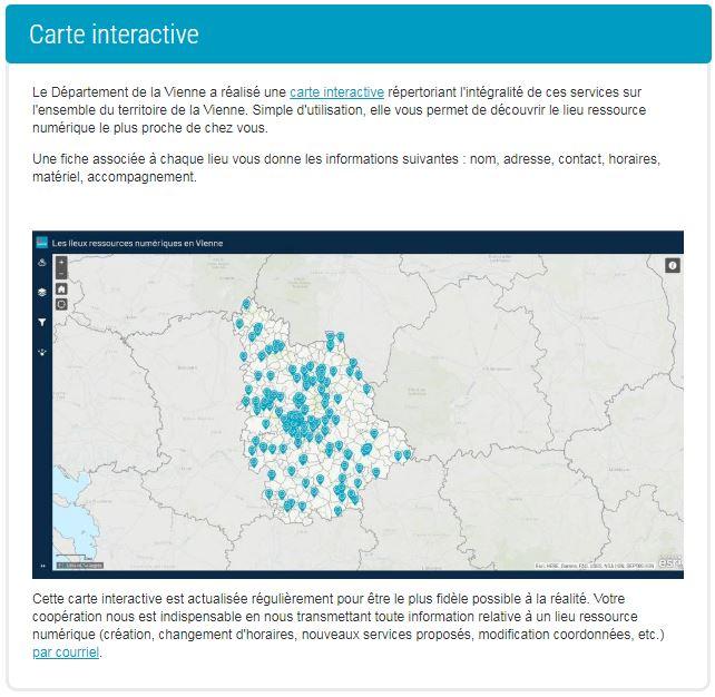Carte interactive Département de la Vienne