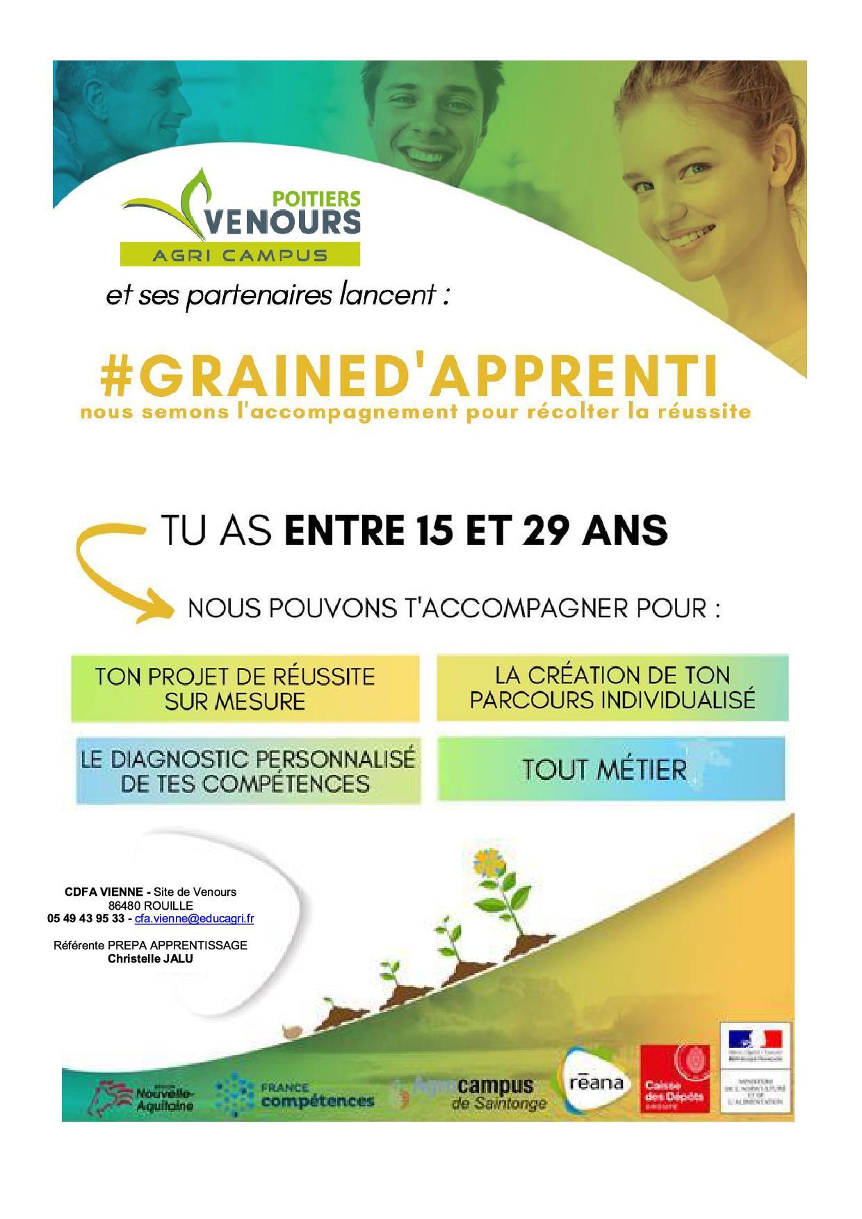Prepa Apprentissage - Agri Campus Venours - Vienne