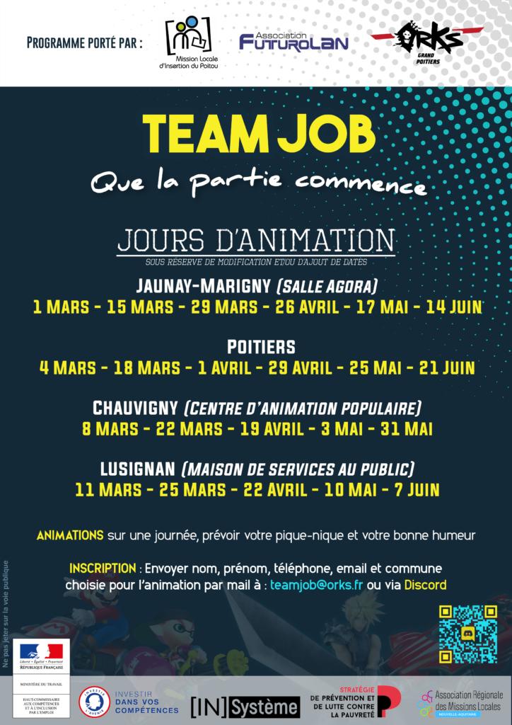 Team Job - Programmation Mars à Juin 2021 - Mission Locale d'Insertion du Poitou