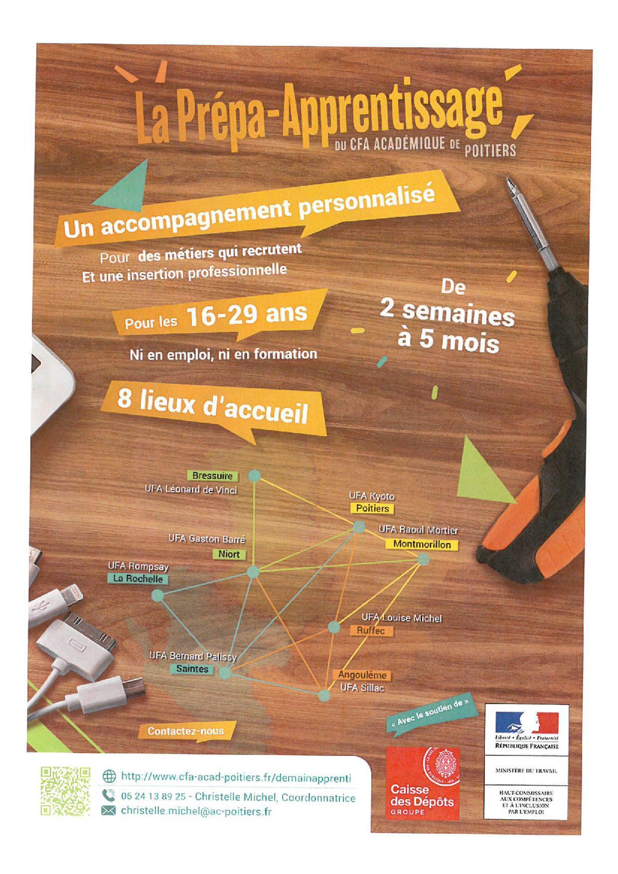 Prepa Apprentissage - CFA Académique de Poitiers - Vienne