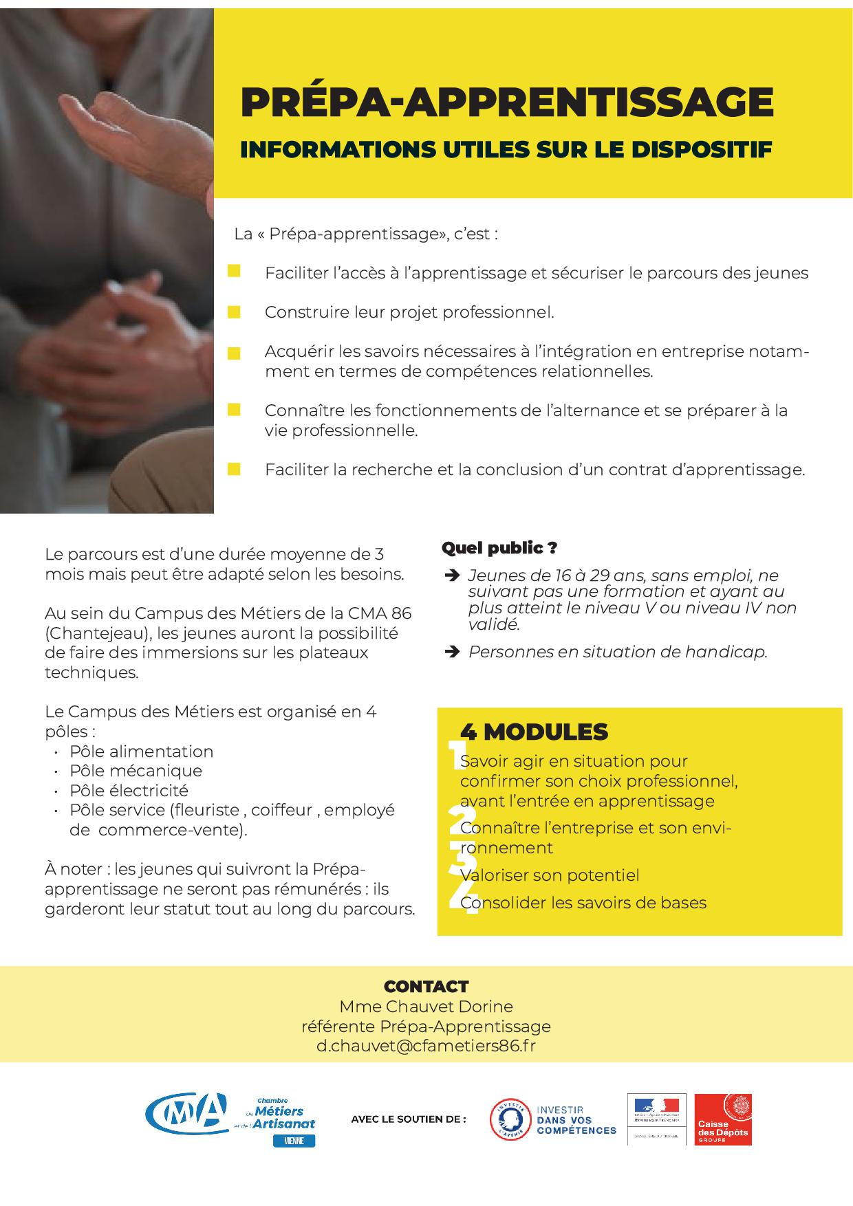 Prepa Apprentissage - Campus des Métiers et de l'Artisanat - Vienne