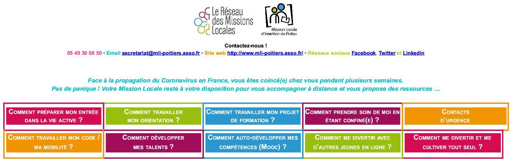 Page Ressources jeunes - Mission Locale d'Insertion du Poitou