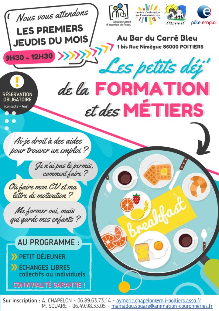 Les petits déj' de la formation et des métiers - Quartier des Couronneries Poitiers
